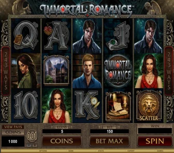 характеристики игрового автомата Immortal Romance