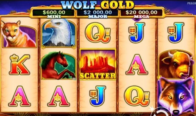 Wolf Gold игровой интерфейс